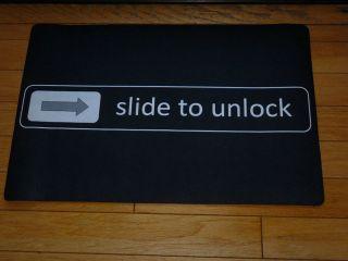 Black Front Door Mat Slide to Unlock Doormat Welcome 29x19 Floor Mat