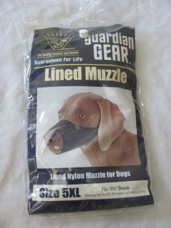 Dog Muzzle Guardian Gear Black Nylon Lined 5XL 10.25