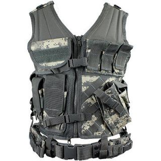 Army Combat Uniform (ACU) Cross Draw Tactical Vest   Paintball Airsoft
