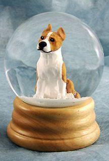 American Staffordshire Terrier Dog Figure Water Globe. Home Decor