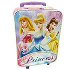 K0141PRTR Disney Princess Rolling Suit Case Luggage Pilot Travel Bag
