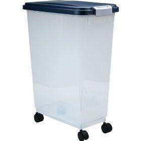 45 47 Quart Capacity Pet Dog Food Dry Laundry Basket Pantry Storage