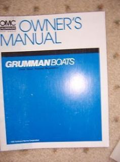 1992 Grumman OMC Aluminum Boat Owner Manual Outboard Marine Features