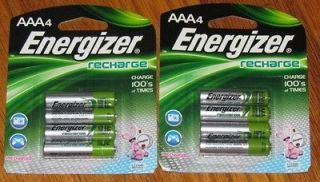 Newly listed Energizer AAA Rechargeable Batteries, 700 mAh, 8 New