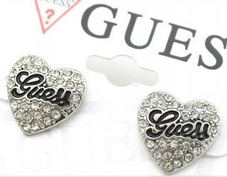 Pair Quanlity Retro Clear Crystal Rhinestone Love Heart Earrings