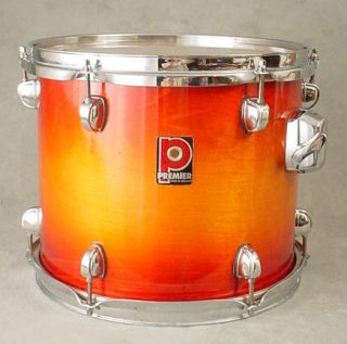 XPK TEQUILLA SUNRISE/ ORANGE 12 HANGING SUSPENDED RACK TOM DRUM
