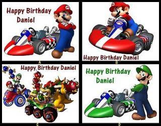 Super Mario Party Yoshi NEW Edible Cake Image Topper Birthday New