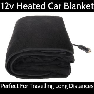 LARGE 12V ELECTRIC HEATED CAR TRUCK EMERGENCY TRAVEL BLANKET THROW 12
