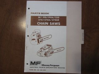 Massey Ferguson MF 190 250 370 chain saw parts manual