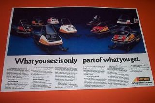 75 SKI DOO SNOWMOBILE LINE UP POSTER TNT ELITE ELAN ect