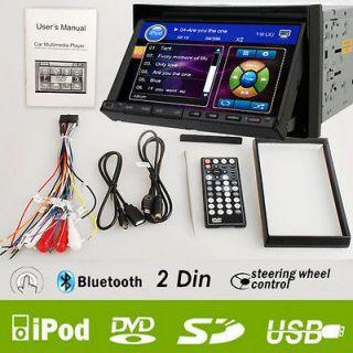 RCA 7 In dash 2 Din Car DVD Player Radio Ipod Bluetooth Touch Screen
