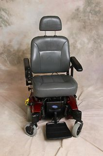 Pronto M51 Sure Step Candy Apple Red Electric Power Chair Wheelchair