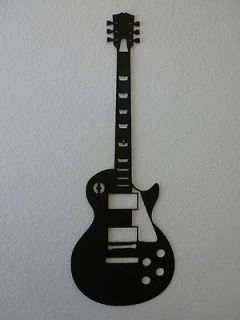 Gibson Les Paul Electric Guitar Silhouette   Metal Wall Art Decor