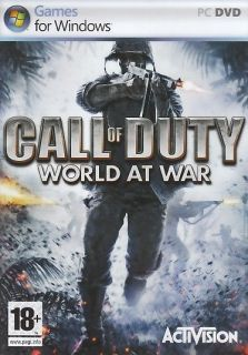 NEW Call of Duty World at War for PC DVD ROM) SEALED NEW