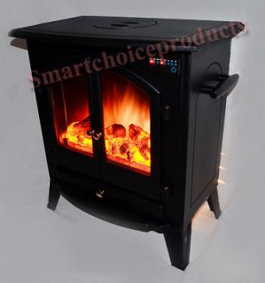 Free Standing Portable Electric Fireplace Remote Control Heater S 20A1