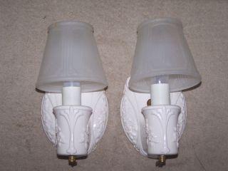 Justice Designs 2 Porcelain Wall Sconces Light Fixtures   Antique