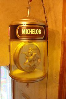 Michelob Lighted Hanging ClockWorks Great