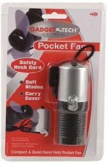 Travel Pocket Hand Held Portable Fan & Safety Neck Cord New