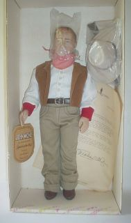 1981 EFFANBEE JOHN WAYNE DOLL FIGURE VINTAGE COLLECTIBLE NEVER REMOVED