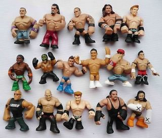 LOT OF 16 MATTEL WWE Wrestling RUMBLERS ACTION FIGURE #FR3