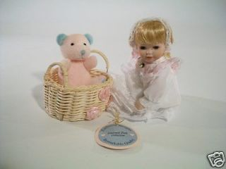 Emerald Doll Collection Exclusive Designs Porcelain Doll 6 1/2 tall