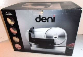NIB Deni Electric Food Slicer Model 14150 NEW