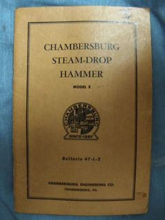 Forging hammer installation, operating & maintenance manual