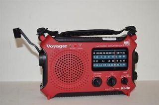 VOYAGER KA500 SOLAR/HAND CRANK WEATHER ALERT EMERGENCY RADIO RED COLOR