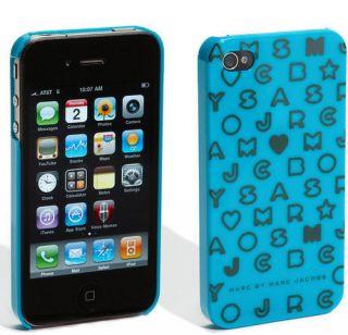 NEW Marc Jacobs Stardust Logo IPhone 4 & 4S Case/Aqua Multi