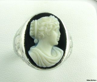 mens cameo ring in Vintage & Antique Jewelry