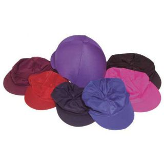 Horse Riding Lycra Hat Covers Plain Colours   Equestrian Equipment