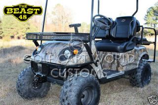 Golf Cart Custom Bodies EZGO TXT camo dipped style finish