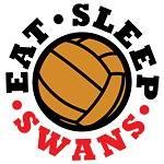 NEW Swansea City EAT. SLEEP. SWANS Football T Shirt
