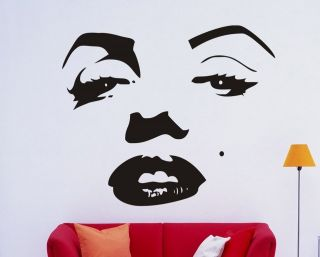 MARILYN MONROE FACE WALL ART STICKER ROOM DECAL DD008