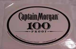 Captain Morgan Rum   Oval Bumper? sticker.NEW