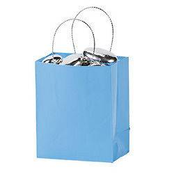 Mini LIGHT BLUE Paper GIFT BAGS wholesale party FREE S/H favor favors