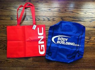 GNC Reuseable tote gym bag Bodybuilding backpack supplement nutrition