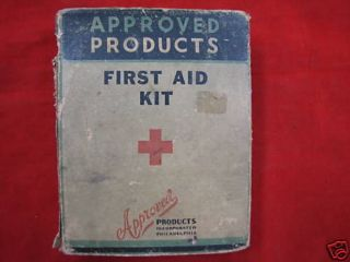 Vintage First Aid Kit Approved Products Tin