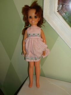 Ideal Crissy family grow hair doll red hair black eyes works fine