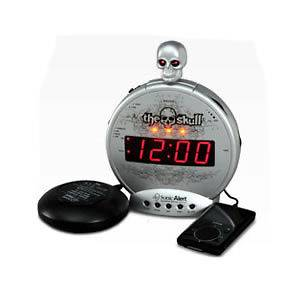 Sonic Alert skull alarm clock  Extra loud 113 db alarm