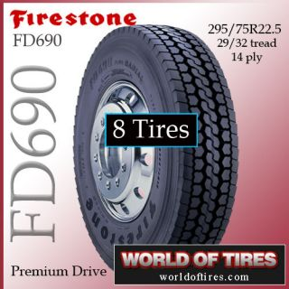 tires Firestone FD690 295/75R22.5   22.5lp tires 22.5 semi truck tires