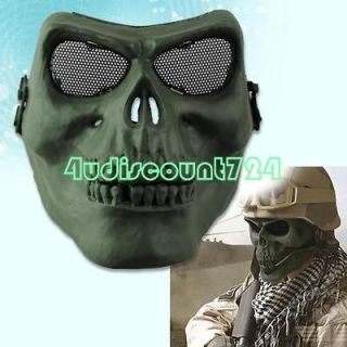 Men Airsoft Hunting Wargame Full Face Death Skull Plastic Mask Shield