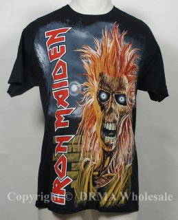 Authentic IRON MAIDEN First Album T Shirt S M L XL XXL Eddie NEW