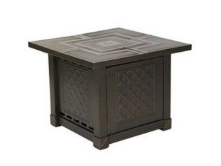 ACCENTS SRGF08 HERRINGTON SQUARE DECORATIVE TABLE GAS FIRE PIT 40K BTU