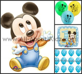 Disney Baby MICKEY MOUSE 1st First Birthday PARTY BALLOONS   Make Your