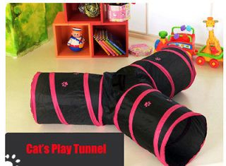 Kitty Cat 3 Way Tunnel Play Cat Lover Toy Exercise Rabbit Puppy Dog