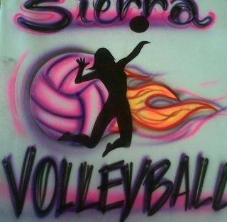 AIRBRUSH VOLLEYBALL BEACH VOLLEYBALL T SHIRT AIRBRUSH