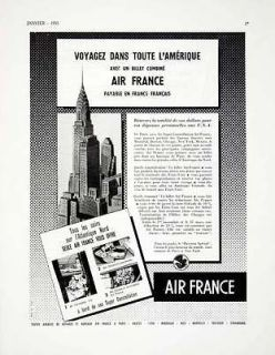 1955 Ad Air France Travel Airplane Travel Ticket Travel Advertisement