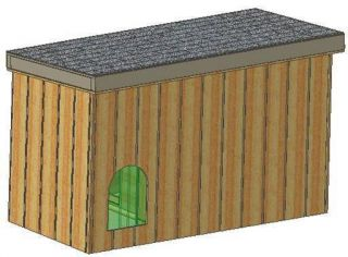 INSULATED DOG HOUSE PLANS, 15 TOTAL, SMALL DOG, WITH COVERED PORCH