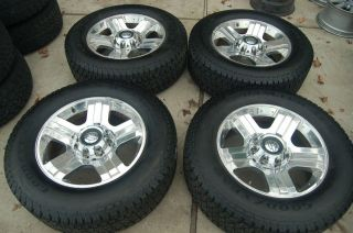 20 F250 HARLEY DAVIDSON Factory POLISHED OEM Wheels and Tires 2005 07